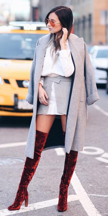 grayl-mini-skirt-white-collared-shirt-red-shoe-boots-otk-velvet-sun-grayl-jacket-coat-fall-winter-hairr-lunch.jpg