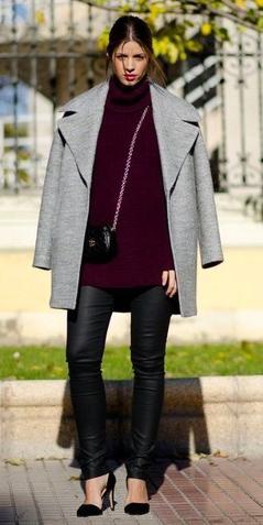 black-leggings-burgundy-sweater-turtleneck-black-bag-grayl-jacket-coat-black-shoe-pumps-fall-winter-hairr-lunch.jpg