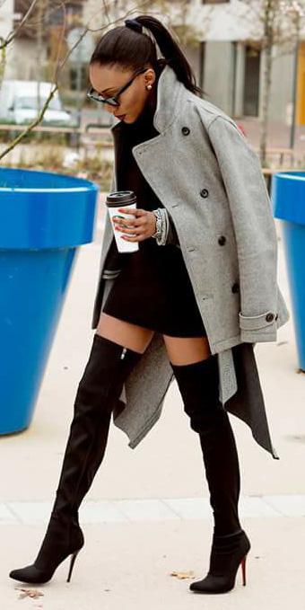 black-dress-mini-sweater-pony-studs-brun-black-shoe-boots-otk-grayl-jacket-coat-peacoat-fall-winter-dinner.jpg