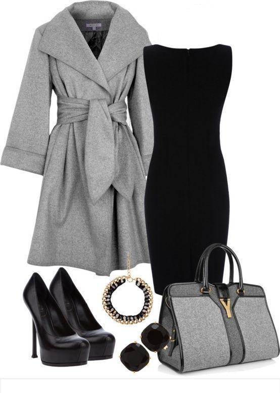 black-dress-grayl-jacket-coat-black-shoe-pumps-gray-bag-hand-howtowear-fashion-style-outfit-fall-winter-shift-sheath-lbd-studs-collar-necklace-work.jpg