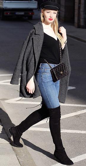 blue-med-skinny-jeans-black-sweater-black-bag-black-shoe-boots-otk-hat-newsboy-grayd-jacket-coat-fall-winter-blonde-lunch.jpg
