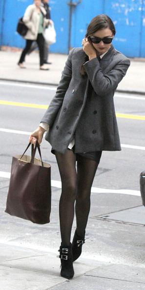black-shorts-braid-black-tights-black-shoe-booties-mirandakerr-grayd-jacket-coat-peacoat-fall-winter-lunch.jpg