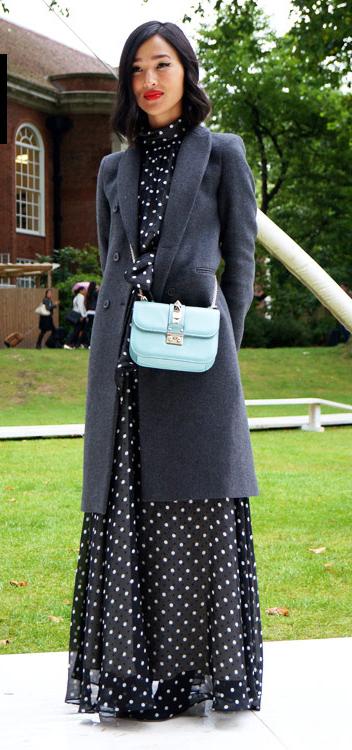 black-dress-maxi-dot-print-blue-bag-grayd-jacket-coat-fall-winter-brun-lunch.jpg