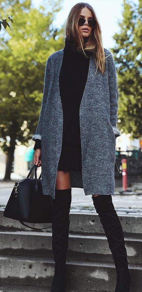 black-dress-sweater-grayd-jacket-coat-fall-winter-blonde-lunch.jpg