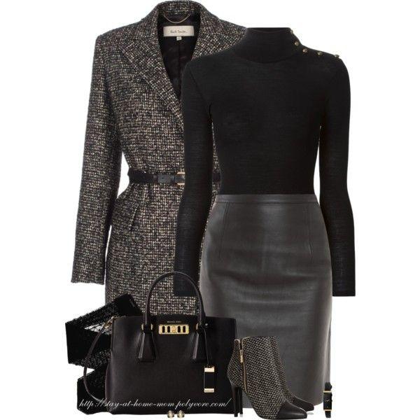 black-pencil-skirt-black-sweater-black-bag-howtowear-fashion-style-outfit-fall-winter-turtleneck-grayd-jacket-coat-belt-leather-black-shoe-booties-tweed-skinny-belt-mono-black-tights-work.jpg