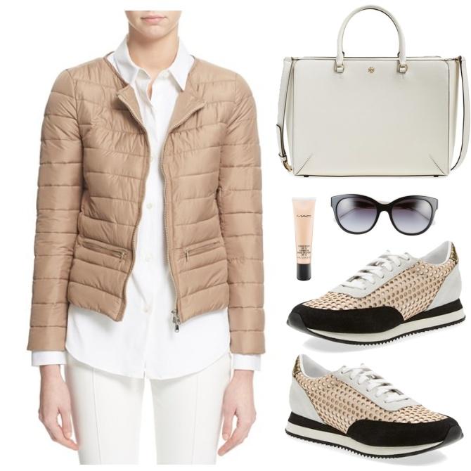 white-skinny-jeans-white-collared-shirt-white-bag-sun-tan-shoe-sneakers-tan-jacket-coat-puffer-fall-winter-weekend.jpg