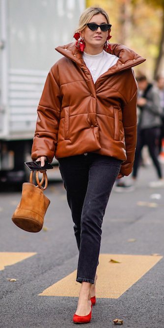 black-skinny-jeans-white-tee-cognac-bag-red-shoe-pumps-red-earrings-leather-camel-jacket-coat-puffer-fall-winter-blonde-lunch.jpg