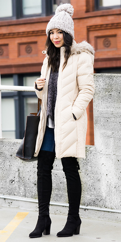 blue-navy-skinny-jeans-grayd-sweater-layer-beanie-black-shoe-boots-otk-white-jacket-coat-puffer-parka-fall-winter-brun-lunch.jpg