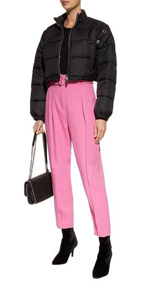 pink-light-joggers-pants-black-shoe-booties-black-bag-black-jacket-coat-puffer-fall-winter-lunch.jpg