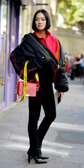 black-skinny-jeans-red-bag-black-shoe-boots-bob-black-jacket-coat-puffer-fall-winter-brun-lunch.jpg