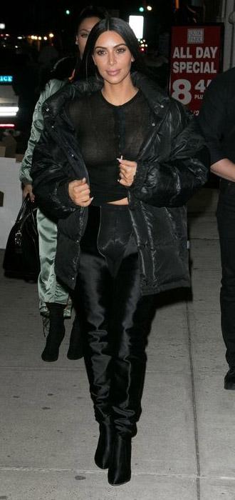 black-top-sheer-black-jacket-coat-puffer-kimkardashian-brun-fall-winter-dinner.jpg
