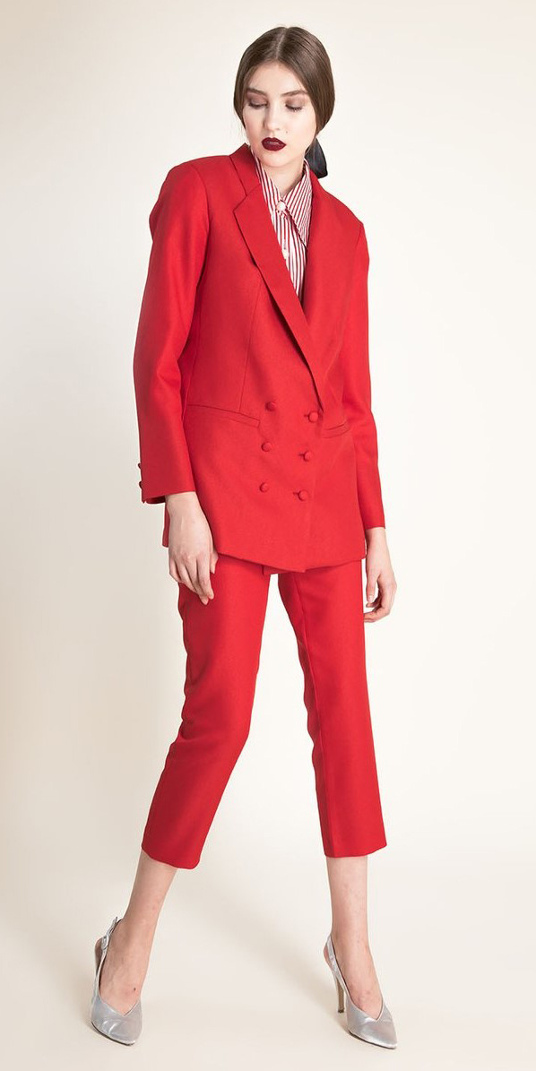red-slim-pants-red-jacket-blazer-suit-red-collared-shirt-white-shoe-pumps-bun-hairr-fall-winter-dinner.jpg