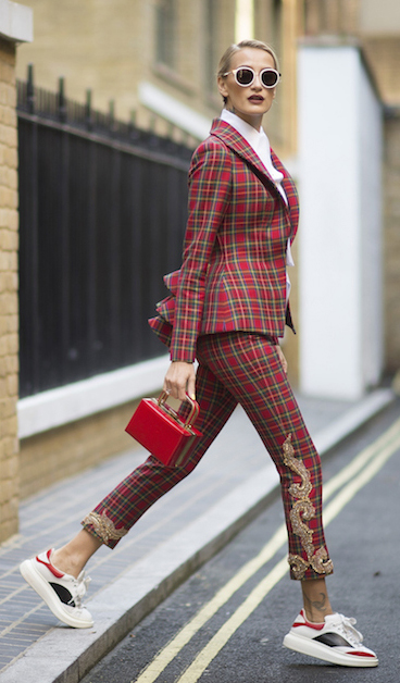 red-slim-pants-white-white-top-red-jacket-blazer-red-bag-hand-bun-howtowear-fashion-style-outfit-fall-winter-plaid-suit-sun-white-shoe-sneakers-blonde-lunch.jpg