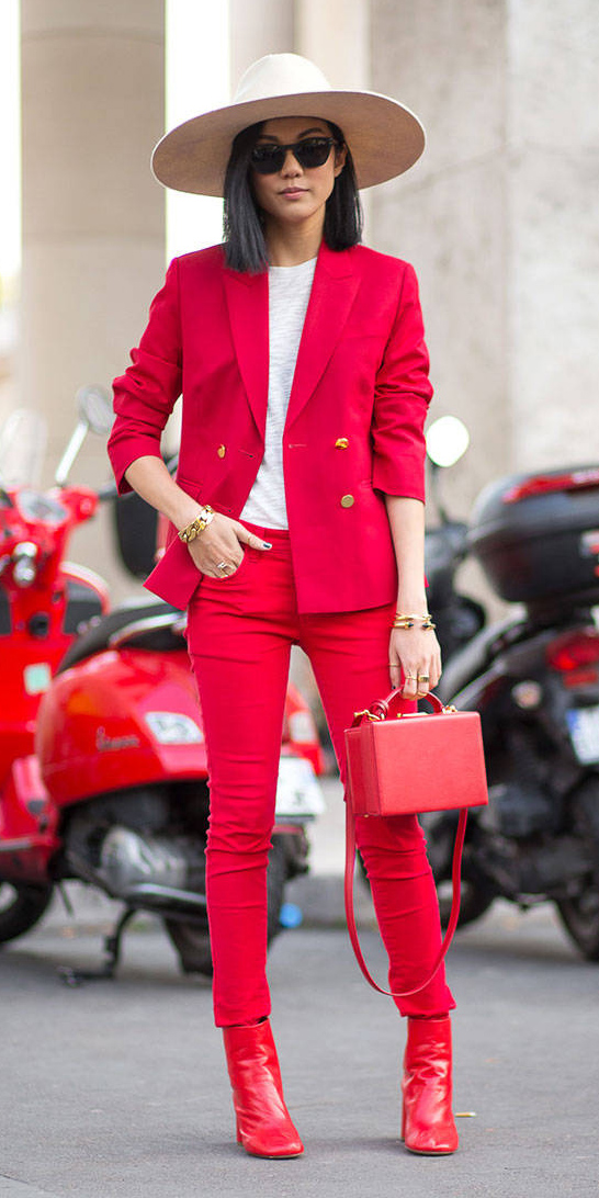 red-skinny-jeans-red-bag-red-shoe-booties-hat-bracelet-lob-red-jacket-blazer-fall-winter-brun-lunch.jpg