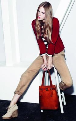 o-tan-chino-pants-black-tee-stripe-red-jacket-blazer-red-bag-tan-shoe-booties-hairr-fall-winter-work.jpg
