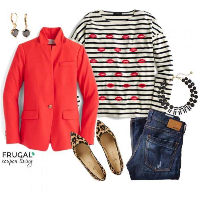 blue-navy-skinny-jeans-white-tee-stripe-bib-necklace-red-jacket-blazer-tan-shoe-pumps-leopard-print-howtowear-valentinesday-outfit-fall-winter-lunch.jpg
