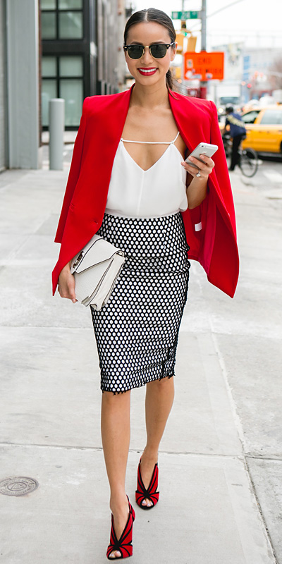 black-pencil-skirt-white-cami-print-sun-pony-white-bag-red-shoe-sandalh-howtowear-style-fashion-spring-summer-red-jacket-blazer-jamiechung-celebrity-brun-dinner.jpg