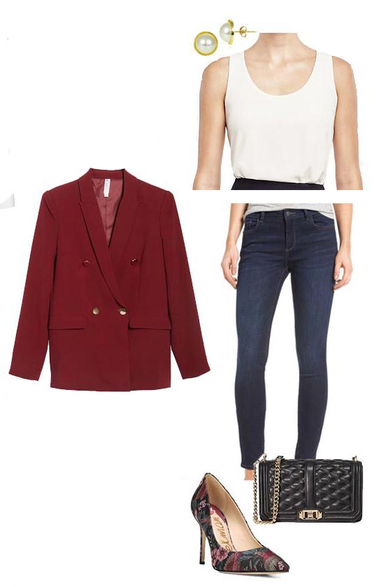 blue-navy-skinny-jeans-white-tank-pearl-studs-black-bag-burgundy-shoe-pumps-embroidered-print-burgundy-jacket-blazer-boyfriend-fall-winter-work.jpg