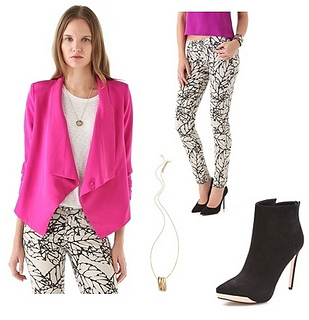 white-skinny-jeans-white-tee-print-black-shoe-booties-pink-magenta-jacket-blazer-necklace-pend-howtowear-fashion-style-outfit-spring-summer-hairr-lunch.jpg