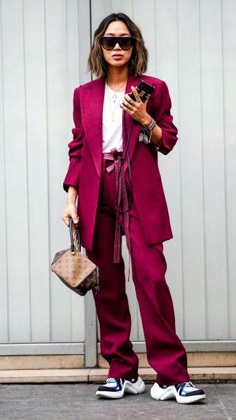 pink-magenta-wideleg-pants-white-tee-brown-bag-hairr-sun-lob-suit-white-shoe-sneakers-pink-magenta-jacket-blazer-fall-winter-lunch.jpg
