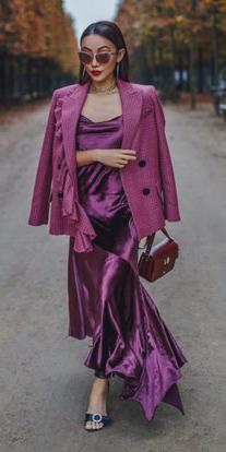how-to-style-purple-royal-dress-maxi-slip-pink-magenta-jacket-blazer-lob-sun-fall-winter-fashion-dinner.jpg