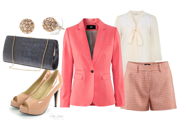 r-pink-light-shorts-white-top-blouse-pink-magenta-jacket-blazer-tan-shoe-pumps-black-bag-studs-howtowear-fashion-style-outfit-spring-summer-lunch.jpg