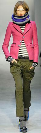 green-olive-chino-pants-black-tee-stripe-pink-magenta-jacket-blazer-purple-royal-scarf-black-shoe-sandalh-socks-hairr-runway-belt-fall-winter-balenciaga-lunch.jpg