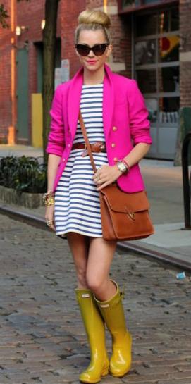 blue-med-dress-stripe-mini-belt-pink-magenta-jacket-blazer-coganc-bag-bun-sun-yellow-shoe-boots-rain-howtowear-fashion-style-outfit-spring-summer-blonde-lunch.jpg
