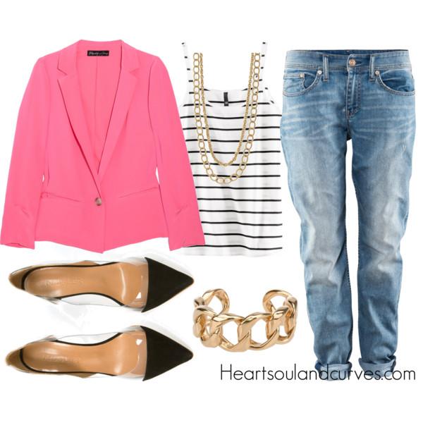blue-light-boyfriend-jeans-r-pink-magenta-jacket-blazer-black-top-stripe-necklace-bracelet-black-shoe-pumps-wear-outfit-spring-summer-lunch.jpg
