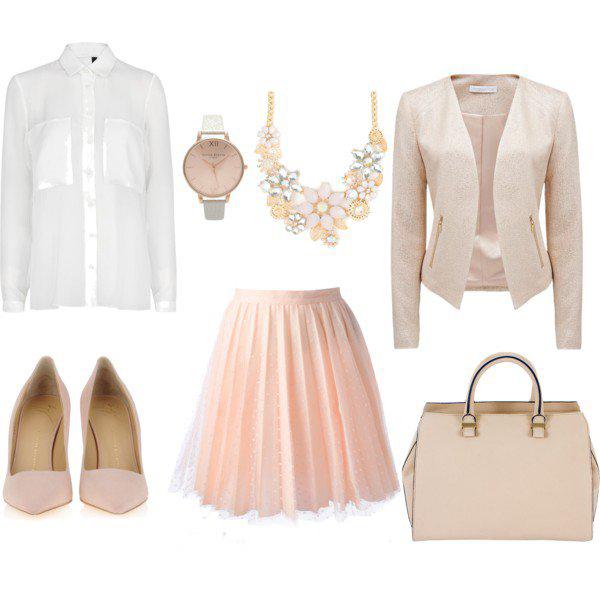 o-peach-aline-skirt-white-top-blouse-tan-jacket-blazer-bib-necklace-watch-tan-bag-pink-shoe-pumps-howtowear-fashion-style-outfit-spring-summer-work.jpg