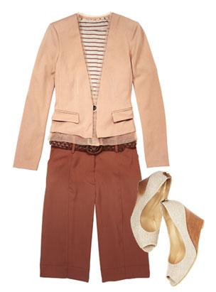 camel-shorts-tan-tee-stripe-tan-jacket-blazer-belt-white-shoe-pumps-bermuda-spring-summer-work.jpg