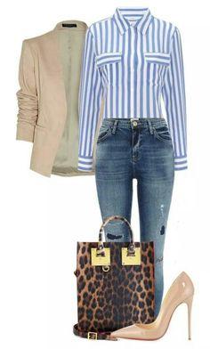 blue-med-skinny-jeans-blue-med-collared-shirt-stripe-tan-jacket-blazer-tan-shoe-pumps-brown-bag-leopard-howtowear-fashion-style-outfit-spring-summer-work.jpg