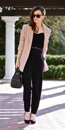 black-jumpsuit-belt-tan-jacket-blazer-black-shoe-pumps-howtowear-fall-winter-hairr-work.jpeg