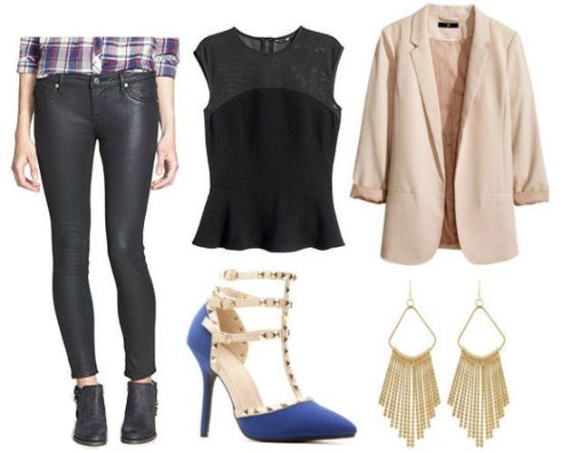 black-skinny-jeans-black-top-peplum-tan-jacket-blazer-howtowear-fashion-style-outfit-spring-summer-leather-earrings-blue-shoe-pumps-night-dinner.jpg