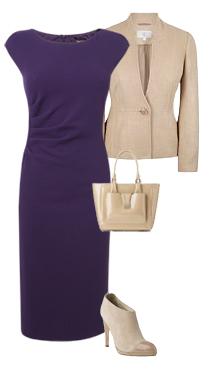 purple-royal-dress-o-tan-jacket-blazer-tan-shoe-booties-tan-bag-tote-shift-howtowear-fashion-style-outfit-spring-summer-work.jpg
