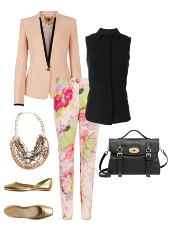 r-pink-light-slim-pants-black-top-peach-jacket-blazer-tan-shoe-flats-black-bag-howtowear-fashion-style-outfit-spring-summer-floral-bib-necklace-office-work.jpg