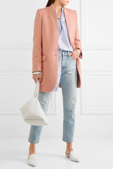 blue-light-skinny-jeans-peach-jacket-blazer-white-bag-white-shoe-loafers-blue-light-collared-shirt-spring-summer-weekend.jpg