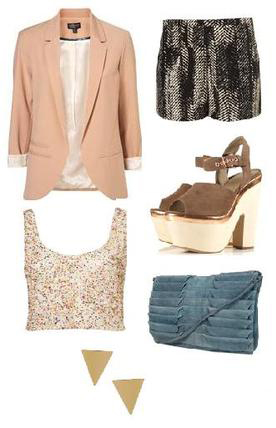 black-shorts-o-tan-cami-sequin-peach-jacket-blazer-print-blue-bag-brown-shoe-sandalw-studs-howtowear-fashion-style-outfit-spring-summer-dinner.jpg