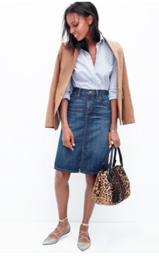 blue-med-pencil-skirt-blue-light-collared-shirt-camel-jacket-blazer-tan-bag-gray-shoe-flats-howtowear-style-fashion-spring-summer-leopard-brun-work.jpg