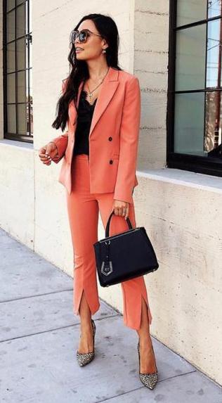 orange-slim-pants-suit-black-top-black-bag-brun-sun-orange-jacket-blazer-fall-winter-work.jpg