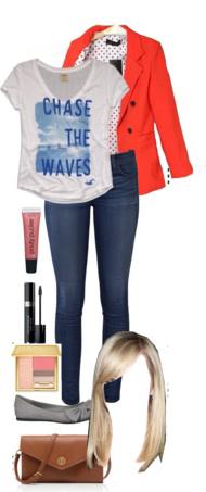 blue-navy-skinny-jeans-white-graphic-tee-gray-shoe-flats-cognac-bag-orange-jacket-blazer-spring-summer-blonde-weekend.jpg