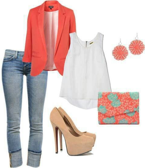 blue-light-skinny-jeans-white-cami-orange-jacket-blazer-tan-shoe-pumps-studs-orange-bag-clutch-howtowear-fashion-style-outfit-spring-summer-lunch.jpg