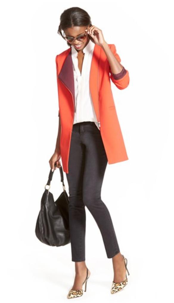 black-skinny-jeans-white-collared-shirt-black-bag-hobo-sun-pony-tan-shoe-pumps-leopard-howtowear-style-fashion-spring-summer-orange-jacket-blazer-brun-work.jpg