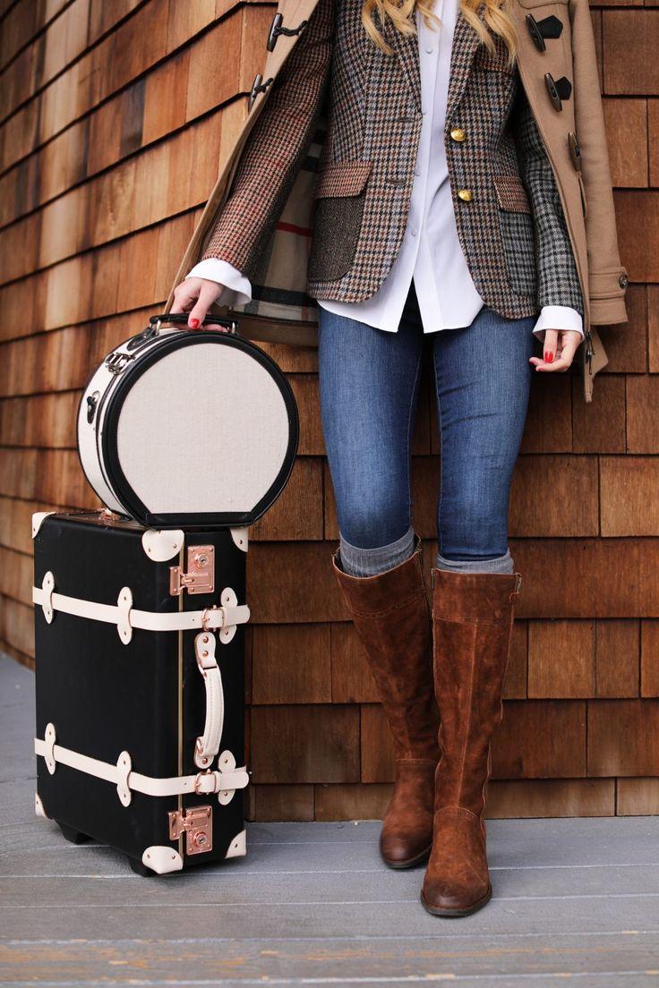 blue-med-skinny-jeans-socks-cognac-shoe-boots-white-collared-shirt-plaid-tweed-camel-jacket-coat-brown-jacket-blazer-fall-winter-luggage-blonde-lunch.jpg
