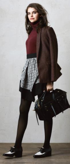 grayl-mini-skirt-r-burgundy-sweater-brown-jacket-blazer-wear-style-fashion-fall-winter-black-tights-black-bag-plaid-black-shoe-brogues-brun-lunch.jpg