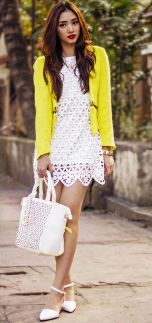 white-dress-yellow-jacket-blazer-crop-necklace-white-bag-white-shoe-pumps-mini-spring-summer-cutout-brunette-dinner.jpg