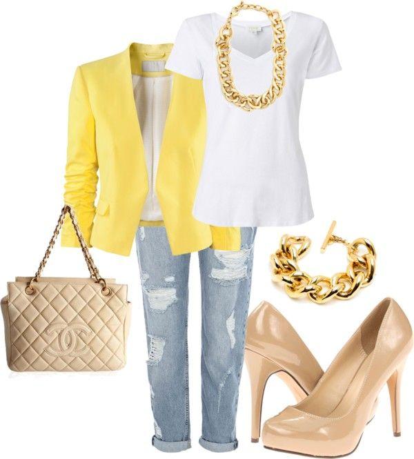 blue-light-boyfriend-jeans-white-tee-yellow-jacket-blazer-chain-necklace-bracelet-tan-bag-tan-shoe-pumps-howtowear-fashion-style-outfit-spring-summer-lunch.jpg