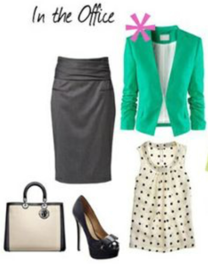 grayd-pencil-skirt-white-top-blouse-white-bag-hand-howtowear-style-fashion-fall-winter-green-emerald-jacket-blazer-black-shoe-pumps-work-office.jpg