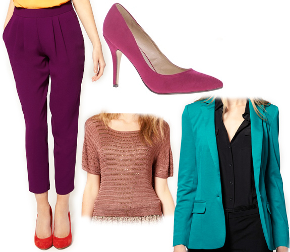 purple-royal-joggers-pants-tan-top-blue-med-jacket-blazer-magenta-shoe-pumps-howtowear-fashion-style-outfit-fall-winter-work.jpg