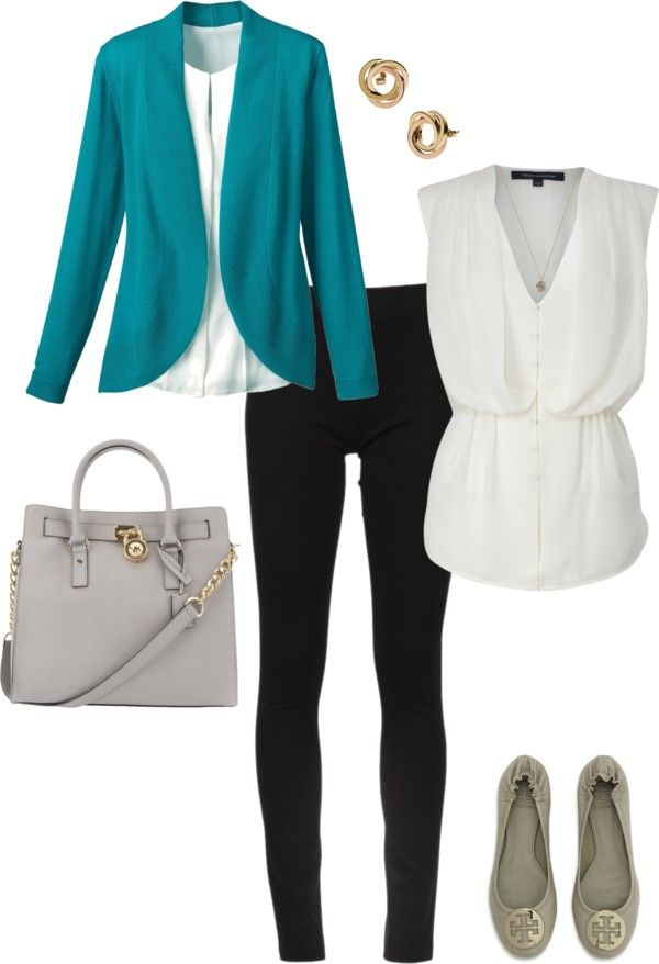 black-skinny-jeans-white-top-blouse-blue-med-jacket-blazer-gray-bag-studs-teal-gray-shoe-flats-howtowear-fashion-style-outfit-spring-summer-work.jpg